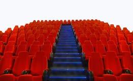 Leere rote Sitze über Weiß Lizenzfreie Stockbilder