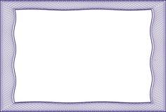 Leere Schablone des Feldes für ein Zertifikat Lizenzfreie Stockfotografie