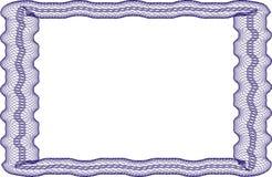 Leere Schablone des Feldes für ein Zertifikat Lizenzfreie Stockfotos