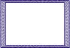 Leere Schablone des Feldes für ein Zertifikat Lizenzfreie Stockbilder