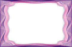 Leere Schablone des Feldes für ein Zertifikat Stockbilder
