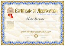 Leere Schablone des Zertifikats stockfotografie