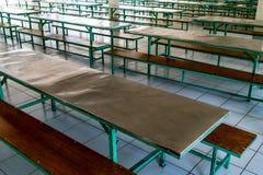 Leere Schule-` s Kantine stockfoto