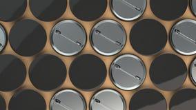 Leere schwarze Ausweise auf orange Hintergrund Lizenzfreies Stockfoto
