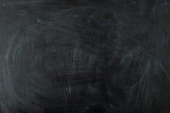 Leere schwarze Kreidebrettoberfläche Lizenzfreie Stockfotos
