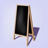 Leere schwarze Schaufenstertafelaufkleber Stockfoto