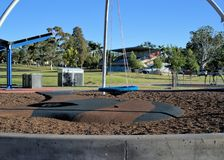 Leere Schwingenreifenfahrt in einem allgemeinen Park mit in Coffs Harbour, New South Wales in Australien lizenzfreie stockbilder