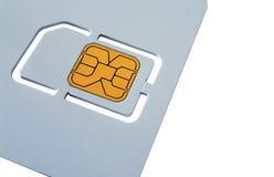 Leere SIM-Karten-Schablone Stockfotografie