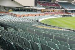 Leere Sitze bei Adelaide Oval Stockfotografie