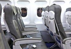 Leere Sitze in den Flugzeugen Stockfoto