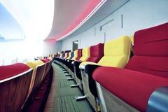 Leere Sitze für Kino Stockbild