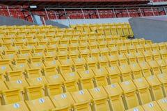 Leere Sitze am Stadion Lizenzfreie Stockfotos