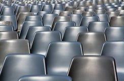 Leere Sitzmuster Kinoshow an der im Freien: Bologna, Marktplatz Maggiore Lizenzfreies Stockfoto