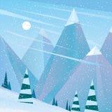 Leere Skisteigung am Mittag Lizenzfreies Stockbild