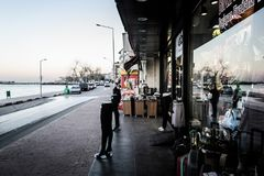 Leere Sommer-Stadt in der Türkei Lizenzfreie Stockfotos