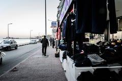 Leere Sommer-Stadt in der Türkei Stockfoto