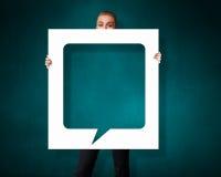 Leere Sprache-Blase Stockfotos