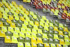 Leere Stadions-Sitze Lizenzfreies Stockbild