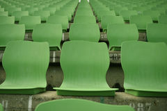 Leere Stadionsitze Lizenzfreies Stockfoto