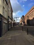 Leere Straße in Burslem, Schüren-auf-Trent, England lizenzfreie stockfotos
