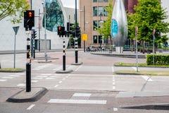 Leere Straße Eindhovens Lizenzfreies Stockbild