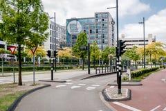 Leere Straße Eindhovens Stockfotografie