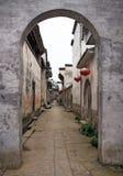 Leere Straße einer alten Stadt in Anhui-Provinz in China Lizenzfreies Stockfoto
