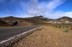 Leere Straße im westlichen Patagonia Lizenzfreie Stockfotografie