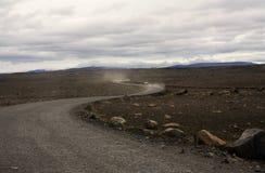 Leere Straße in Island lizenzfreies stockfoto