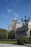Leere Straße in Madrid Stockfoto