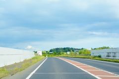 Leere Stra?e ohne Autos oder Verkehr lizenzfreies stockfoto