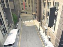 Leere Straßen Stockbilder