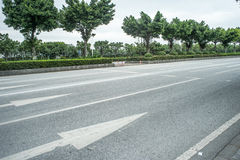 Leere Straßenszene Stockfotos