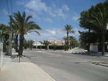 Leere streetcross in Spanien Stockbilder