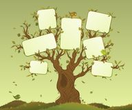 Leere Tabletten auf einem Baum Stockbild