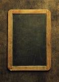 Leere Tafel für Ihren Text Draufsicht über Holztisch mit Stockfotos