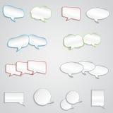 Leere Textbox verschiedene Formen Stockfotografie