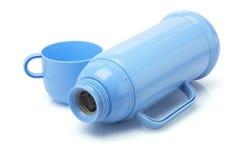 Leere Thermos-Flasche stockfoto