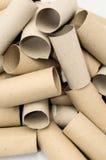 Leere Toilettenpapier-Rolle Stockbilder