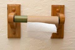 Leere Toilettenpapier-Rolle Stockfotos