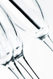 Leere transparente Gläser Stockbild
