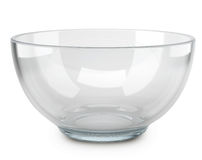 Leere transparente Glasschüssel stock abbildung