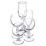 Leere trasparent Glaswaren Lizenzfreies Stockbild