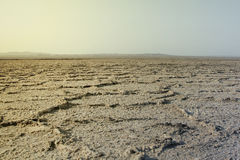 Leere und getrocknete Wüste im Iran Lizenzfreie Stockbilder