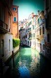 Leere Venedig-Kanal-Vignette lizenzfreie stockfotografie