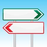 Leere Verkehrsschilder verschalen auf weißer Hintergrund-Vektor-Illustration Stockbild