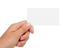 Leere Visitenkarte Lizenzfreie Stockfotos