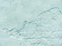 Leere Wand des Gipses Farbe von Tiffany stockfoto