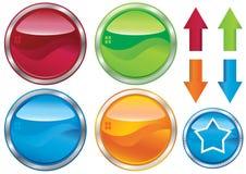 Leere Web Tasten und Label_eps Lizenzfreies Stockbild