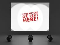 Leere weiße Anschlagtafel Stockfotografie